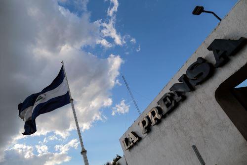 Fachada del periódico nicaragüense La Prensa, en Managua Foto: AFP