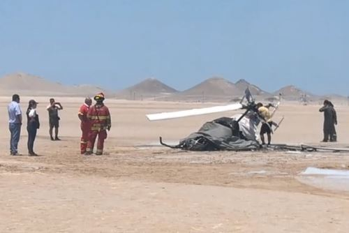 Dos miembros del Ejército mueren al caer helicóptero en Moquegua. Foto: Radio Americana de Ilo/Facebook