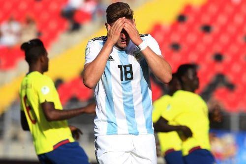 La selección de argentina sufre en el Sudamericano Sub-20