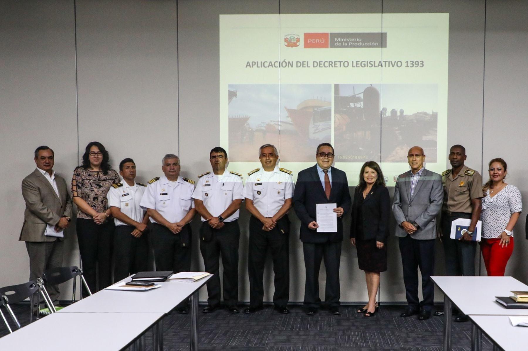 Presentación del protocolo de interdicción. Foto: Cortesía.