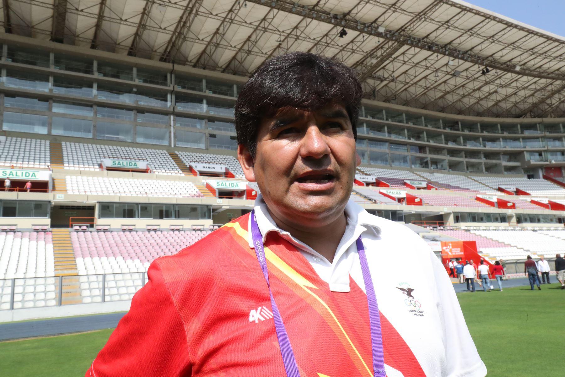 Alex Camacho, representante de Bolivia. Foto: ANDINA/Juan Carlos Guzmán