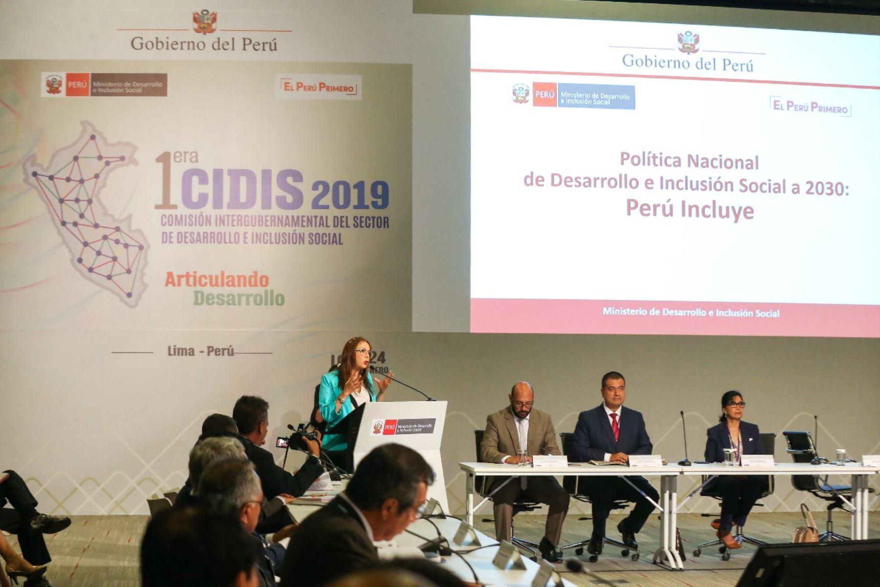 Midis presenta nueva Política Nacional por el Desarrollo e Inclusión Social. ANDINA/Difusión