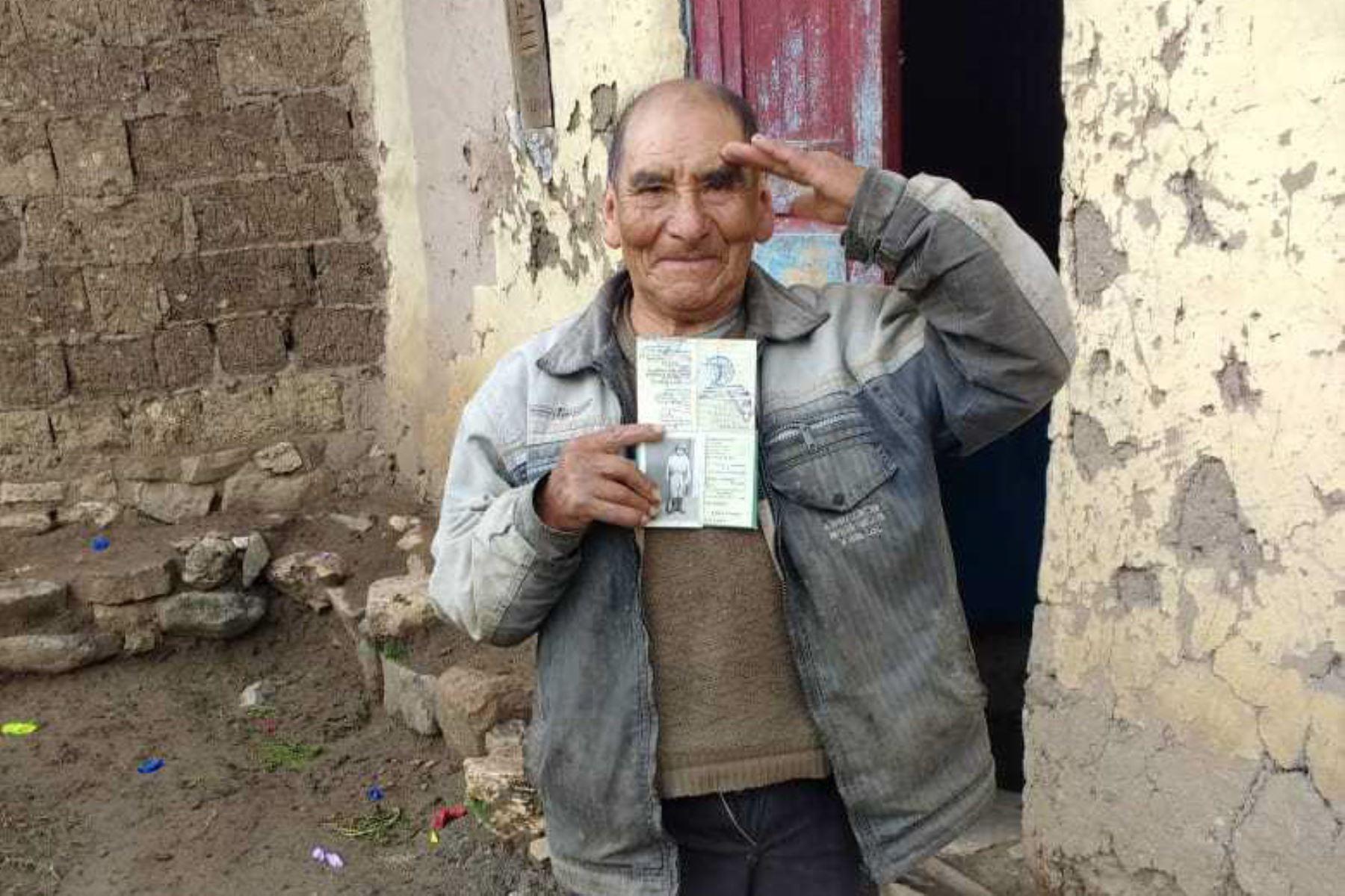 Dionicio Merino Huasco, usuario del Programa Nacional de Asistencia Solidaria Pensión 65, del Ministerio de Desarrollo e Inclusión Social (Midis).