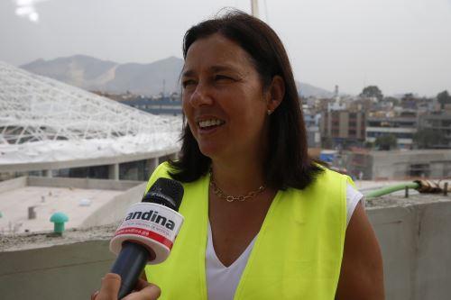 Ministra del Deporte de Chile, Pauline Kantor Pupkin. Foto: ANDINA/Nathalie Sayago.