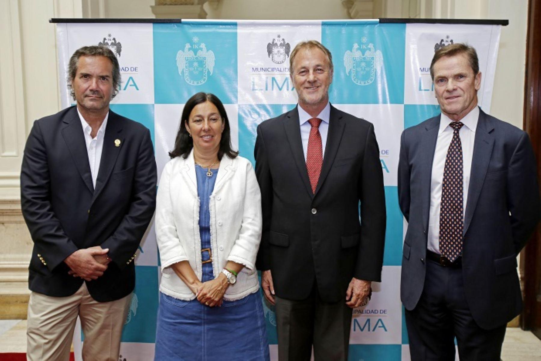 Ministra del Deporte de Chile, Pauline Kantor, visitó al alcalde de Lima, Jorge Muñoz; al presidente del Comité Organizador de Lima 2019 (Copal), Carlos Neuhaus, y al presidente de Panam Sport, Neven Ilic,