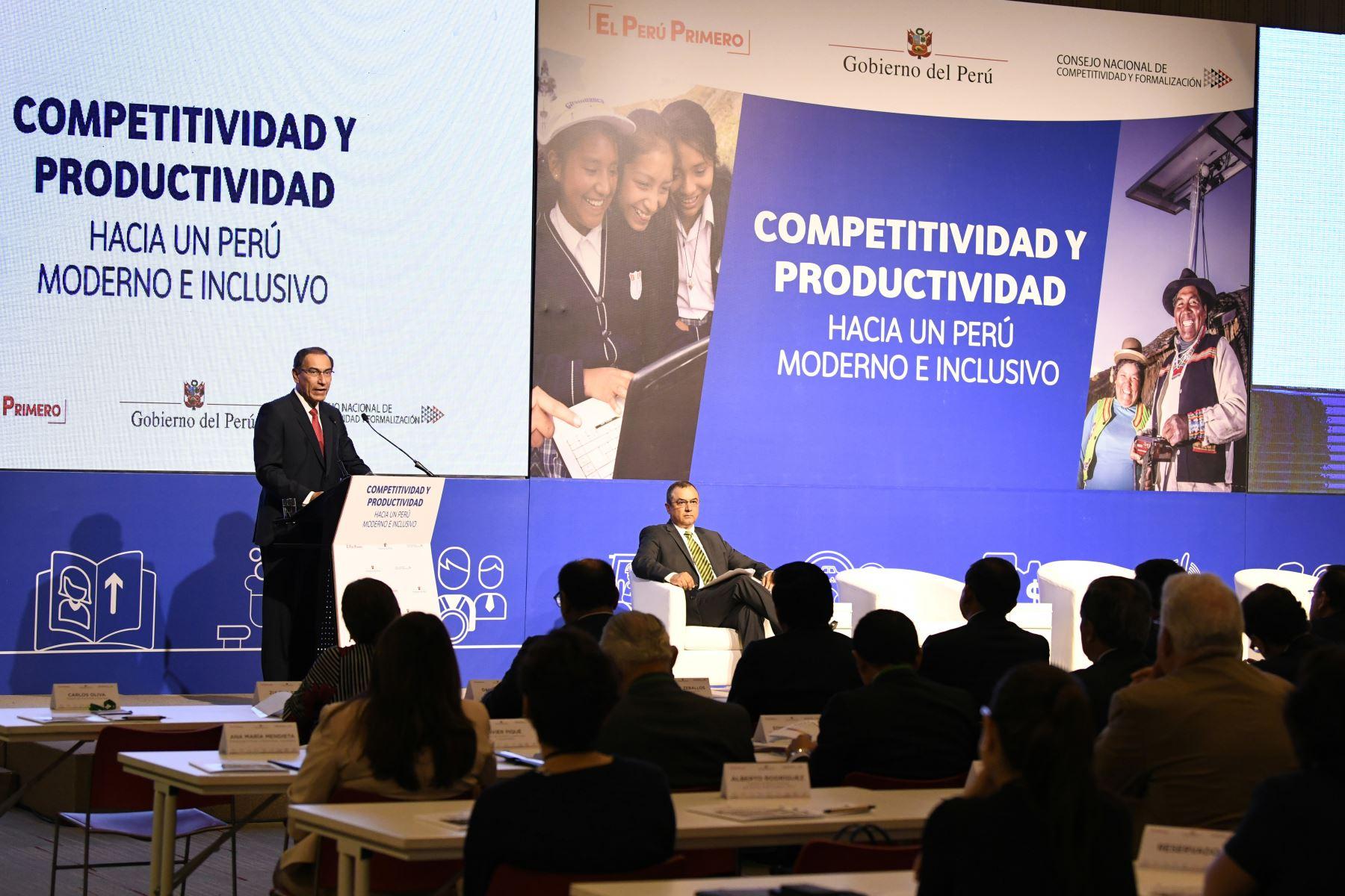 MEF: competitividad es la clave para ser un país desarrollado (Andina)