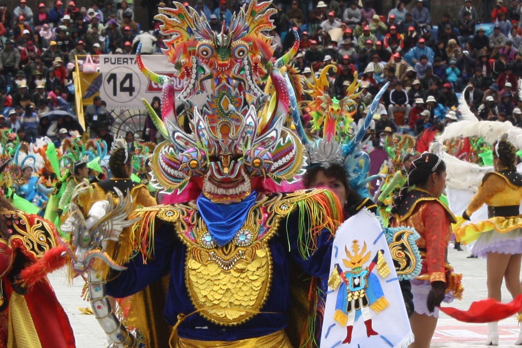 La diablada es una de las danzas que se ejecuta durante la Festividad de la Virgen de la Candelaria en Puno. Foto: Ministerio de Cultura