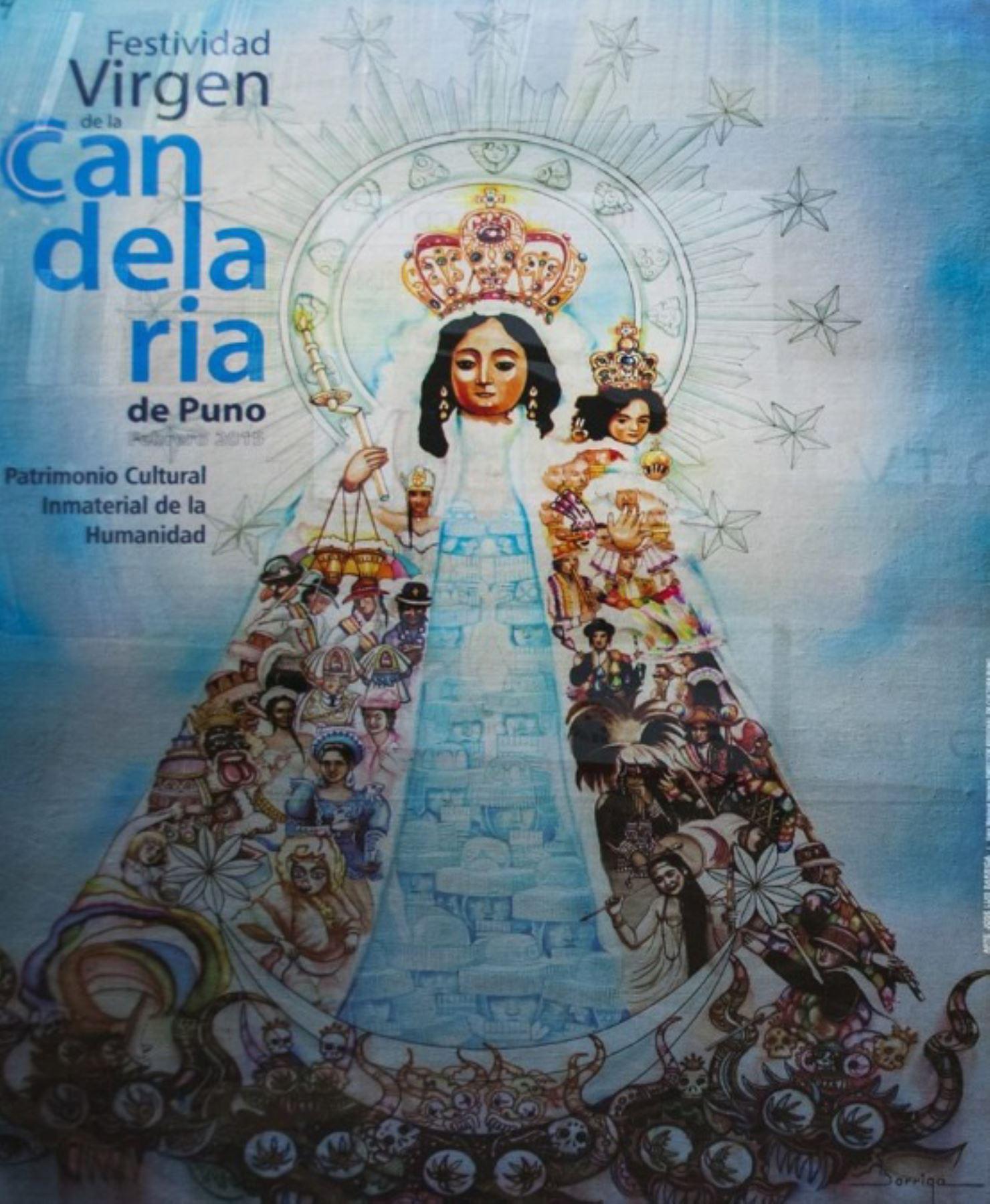 """En la Casa de la Cultura de Puno se exhibirá la exposición """"Arte, tiempo y fe"""", que incluye más de 200 afiches y calendarios alusivos a la Festividad Virgen de la Candelaria. Foto: ANDINA/Difusión"""