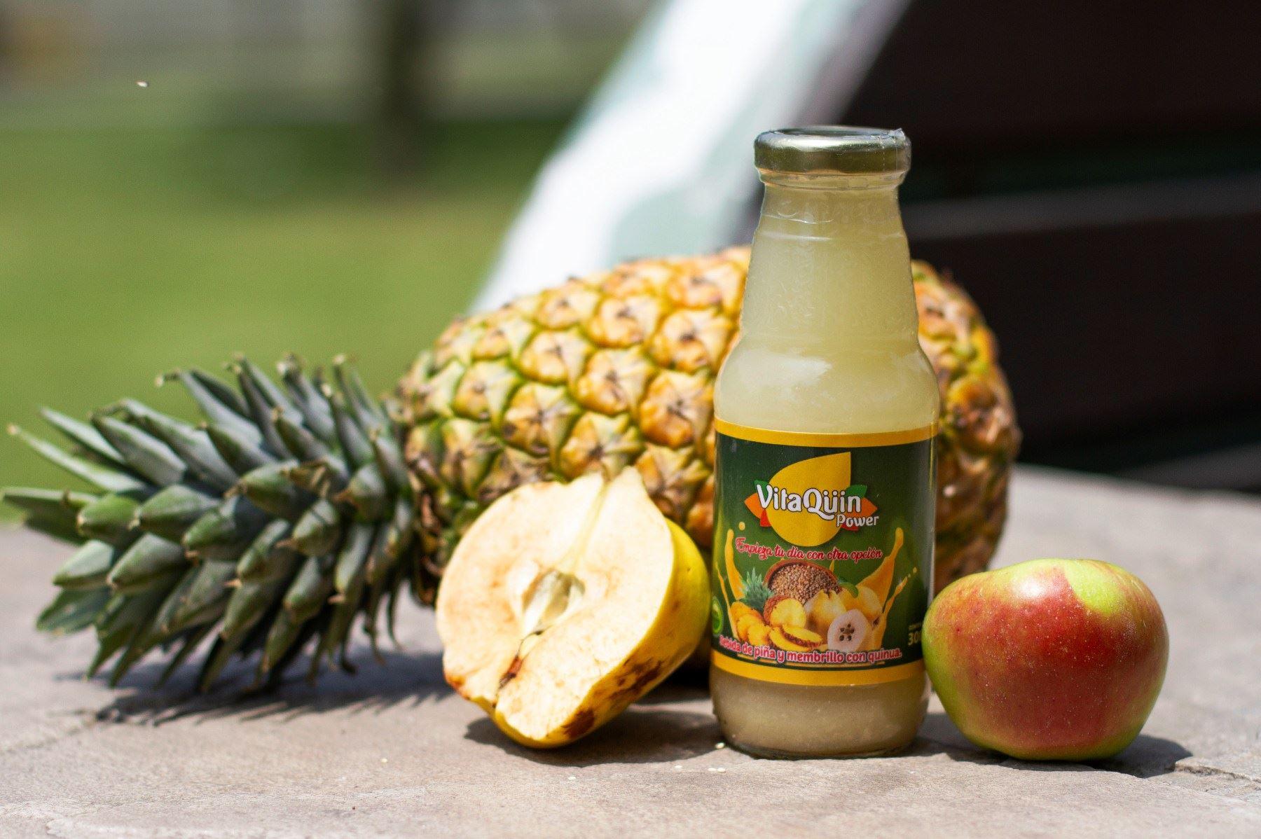 VitaQüin Power: la bebida de quinua, piña y membrillo creada gracias a Beca 18. Foto: ANDINA/Difusión.