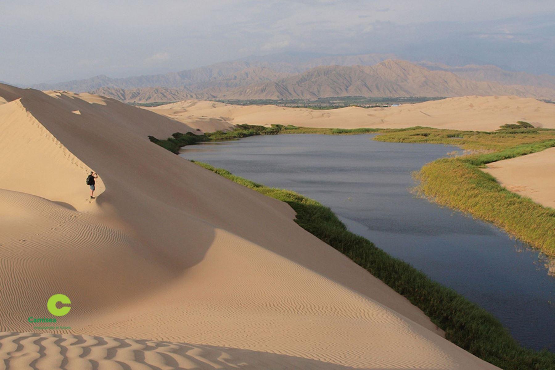 La laguna Morón es uno de los atractivos turísticos del distrito de Humay, provincia de Pisco, en Ica. ANDINA/Difusión