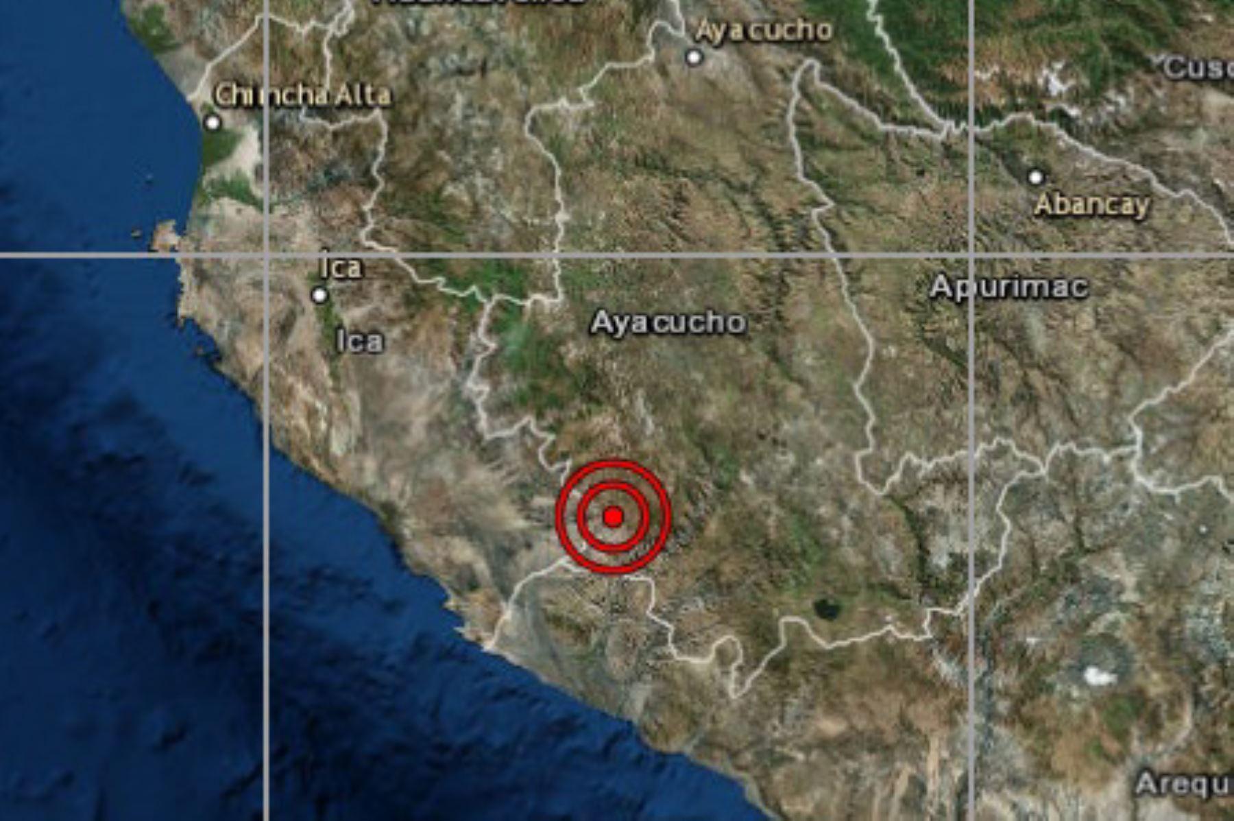 El IGP reportó esta madrugada un sismo de magnitud 4.5 en la provincia de Nasca, región Ica.