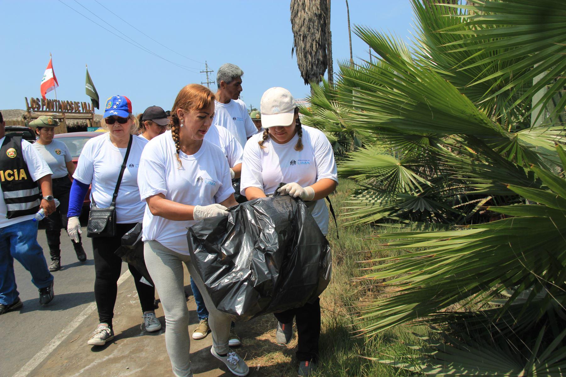 Jornada de limpieza en Pantanos de Villa: Foto: Andina/difusión