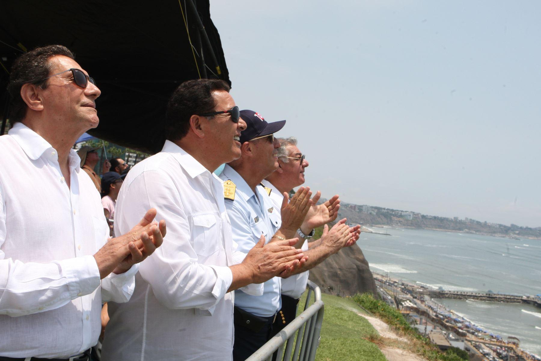 Ministro de Defensa Jose Huerta Torres encabeza evento por el Centesimo aniversario de la Fuerza Aerea de Perú.Foto:ANDINA/Héctor Vinces.
