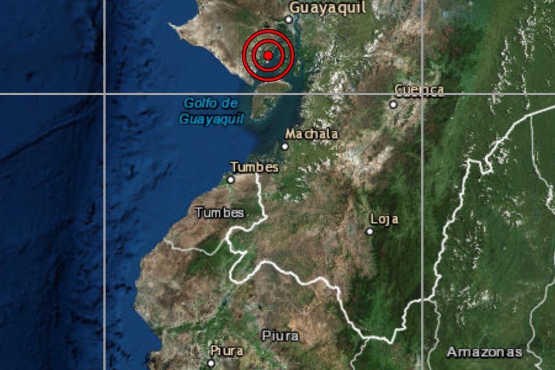 Un sismo de magnitud 5.9 sacudió esta tarde la provincia de Zarumilla, en la región Tumbes.