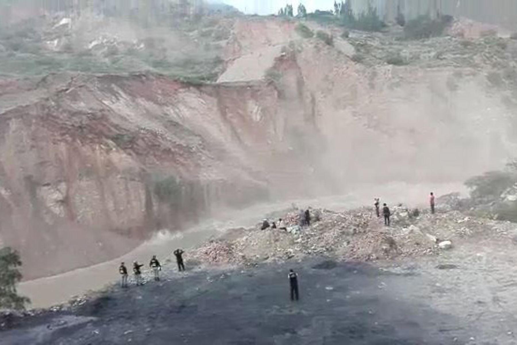 Prorrogan estado de emergencia en Pomabamba por daños causados por lluvias intensas y erosión fluvial. ANDINA/Difusión