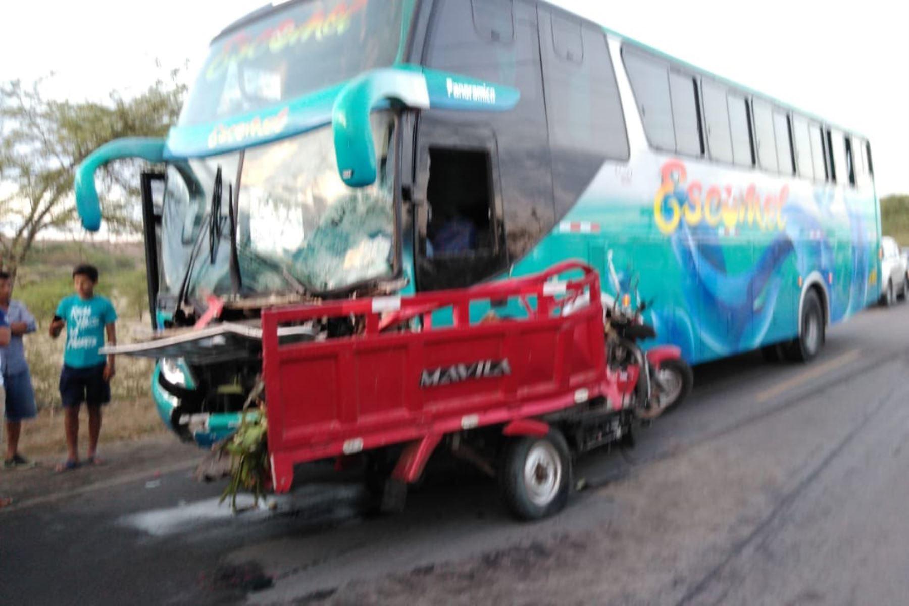 Dos personas mueren en accidente de tránsito en Sullana. ANDINA