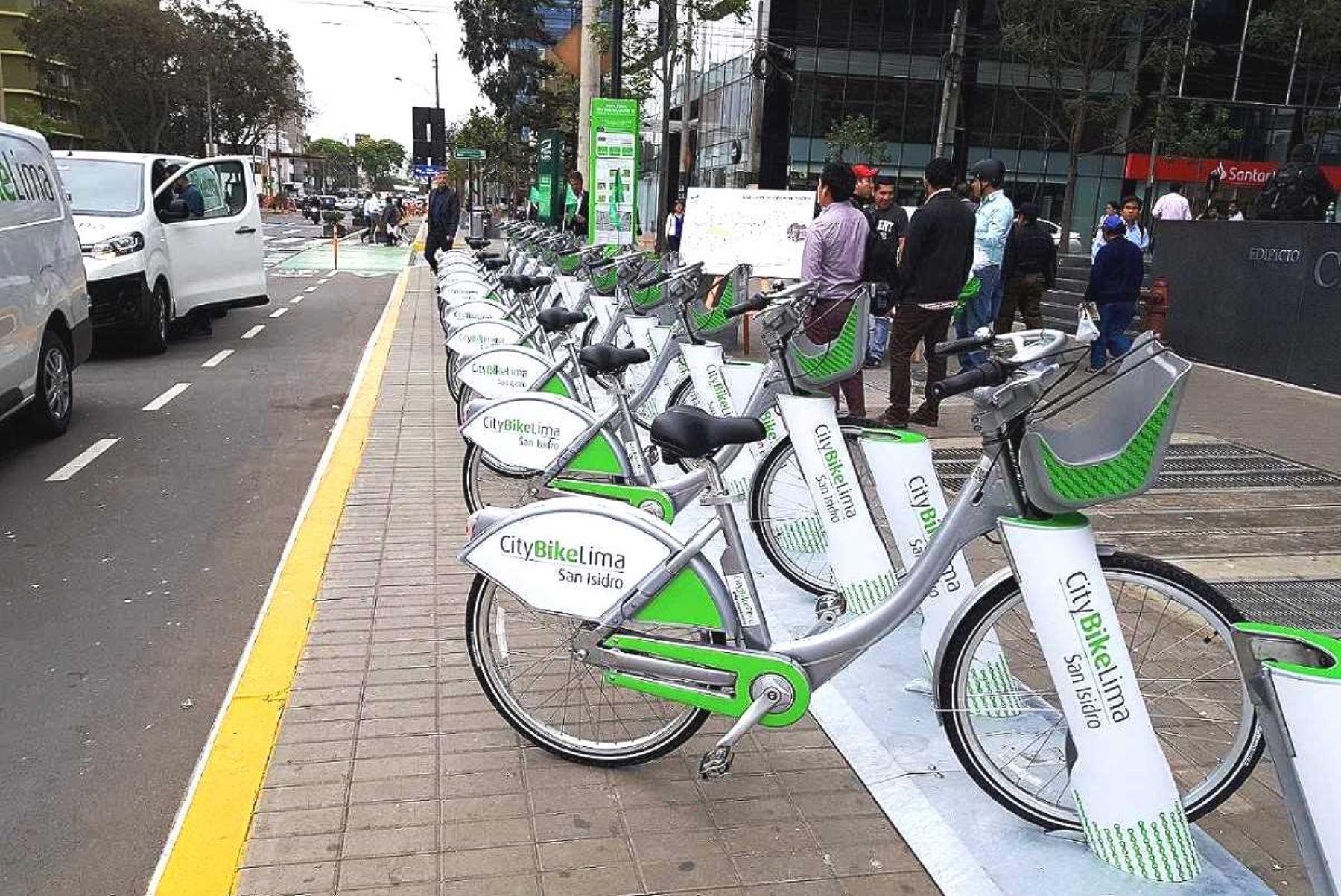 Cinco datos sobre el servicio de bicicletas públicas que se implementa en Lima. Foto: ANDINA/Difusión.