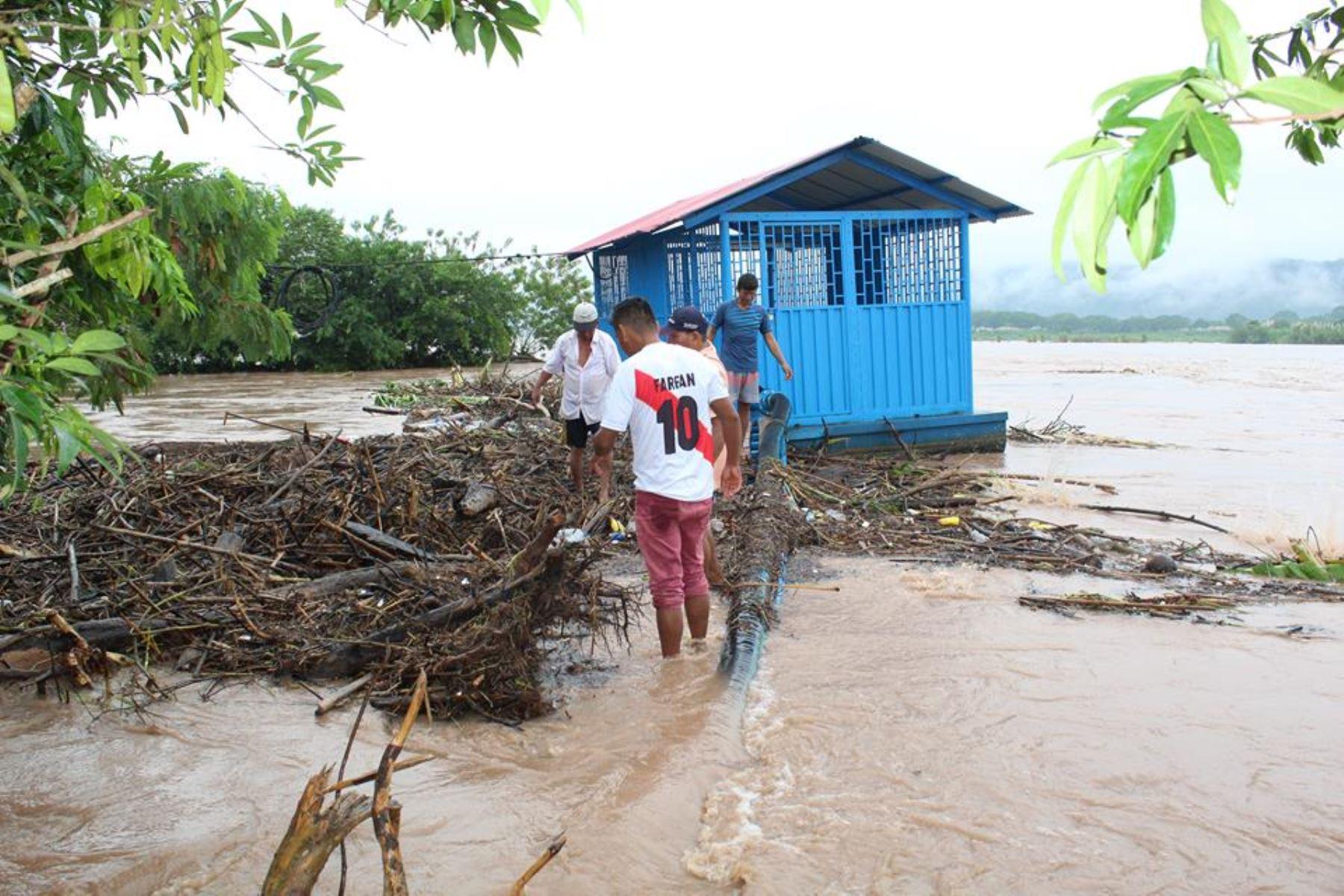 Desborde del río Huallaga se llevó pertenencias de 15 familias en región San Martín. ANDINA
