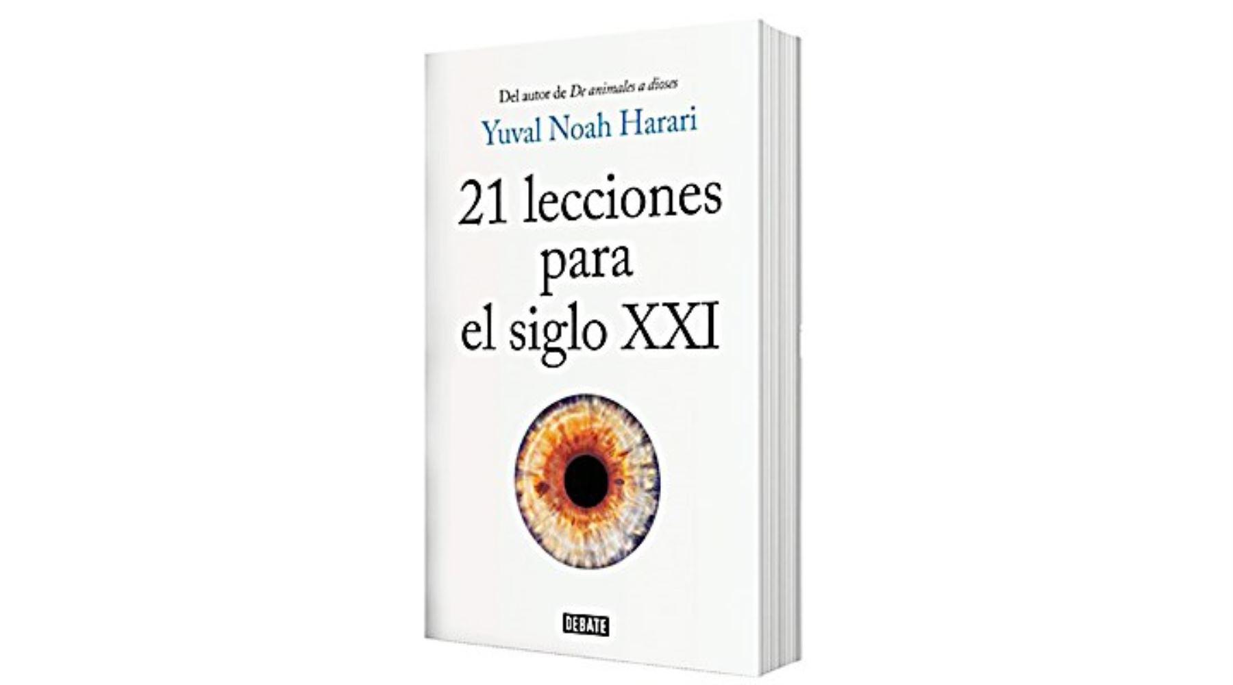 """Portada del libro """"21 lecciones para el siglo XXI"""" de Yuval Nova Harari."""