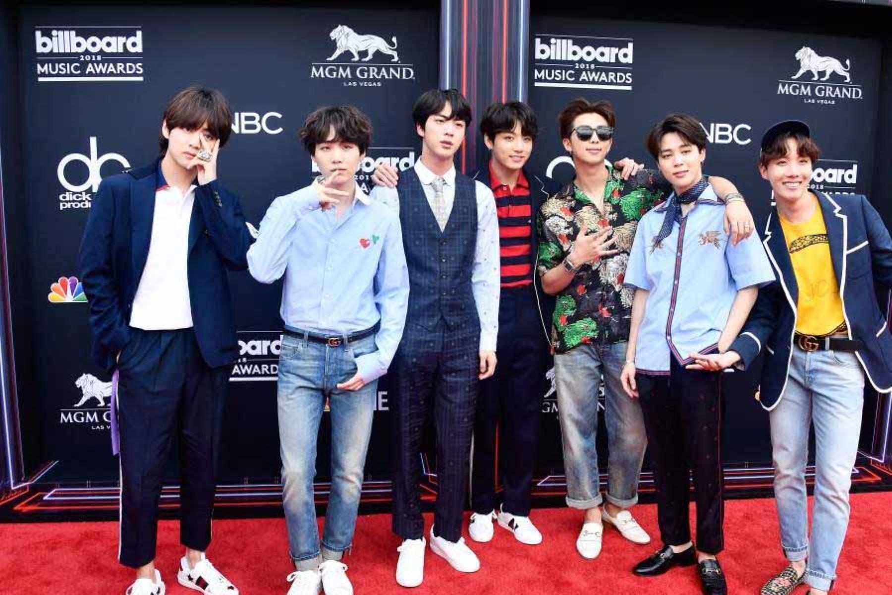 Siete miembros conforman el grupo de k-pop BTS.  Foto: AFP