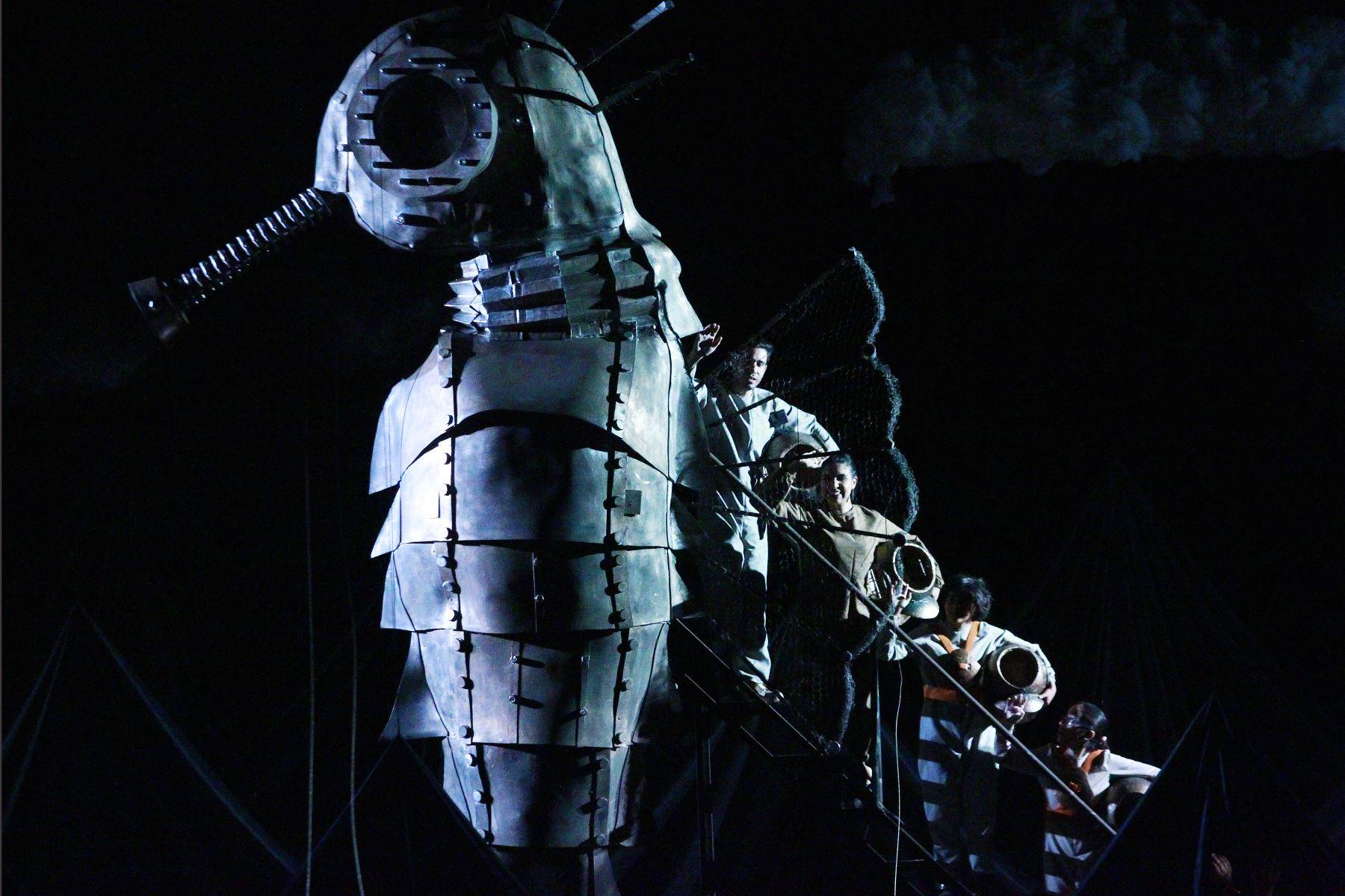 """Estrenan obra teatral musical """"La ciudad bajo el mar"""" sobre la contaminación ambiental con la participan más de 70 integrantes del Coro Nacional de Niños. Foto: ANDINA/Eddy Ramos"""