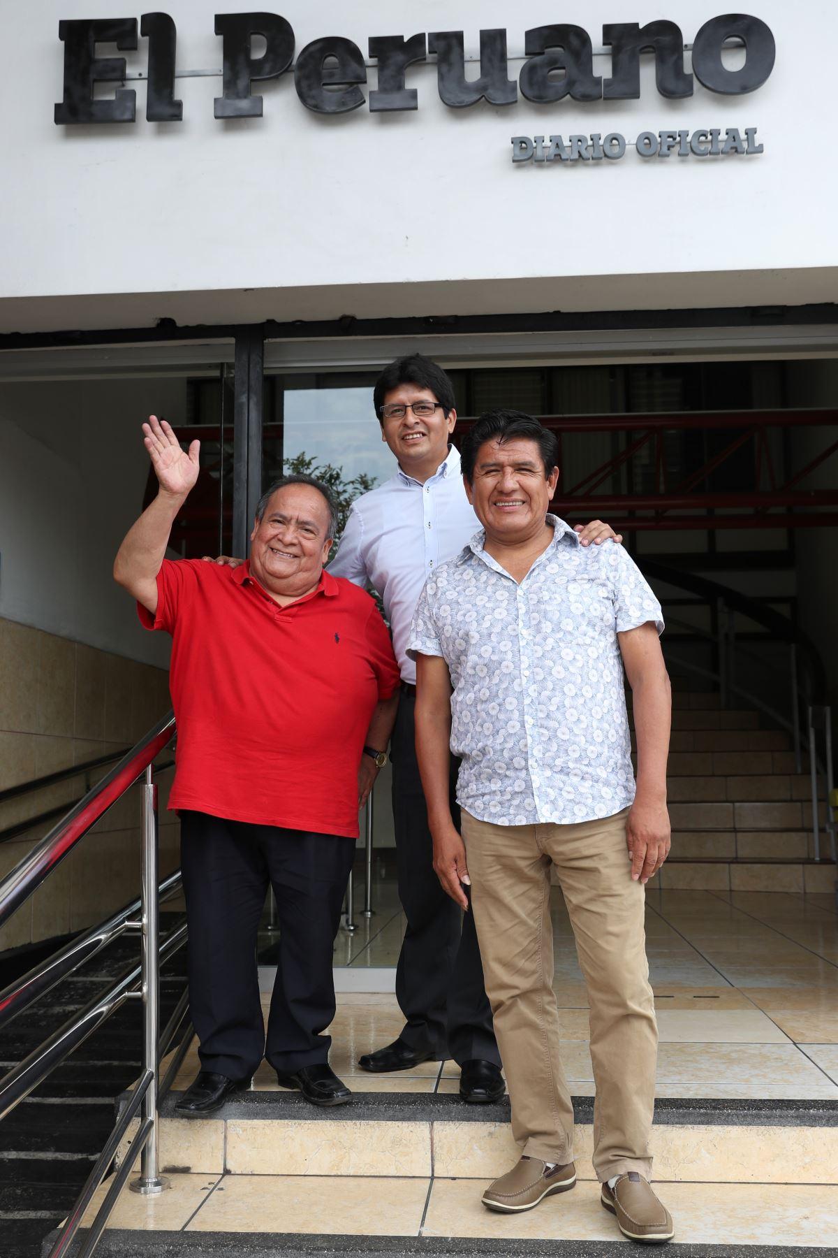 Los Shapis nos vistarón y pasaran grandes momentos en nuestra casa editora . Foto: ANDINA/Melina Mejía
