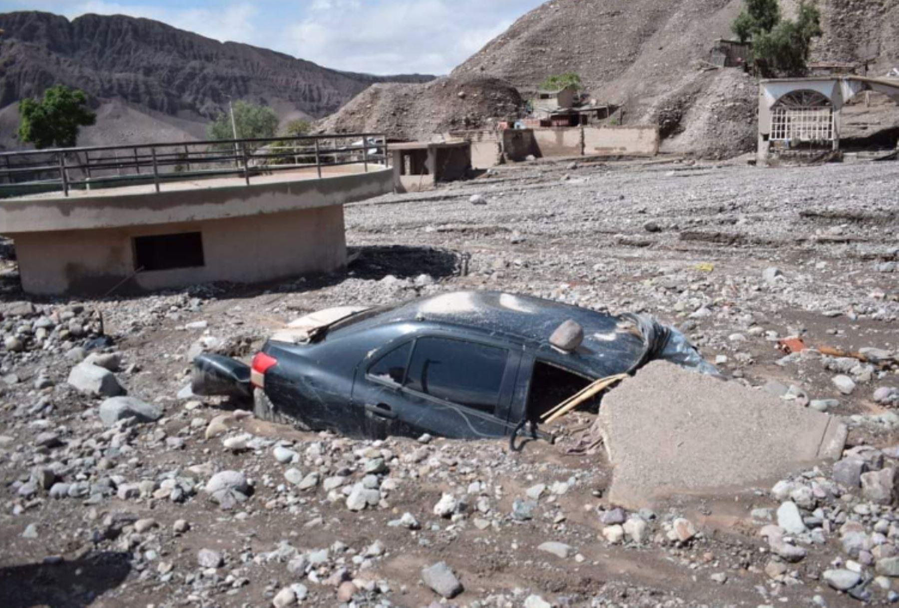 Fuertes lluvias y huaycos nos dejan estas imàgenes  del centro poblado Mirave, en el distrito de Ilabaya, en la provincia Jorge Basadre.Foto: ANDINA/Prefectura Tacna