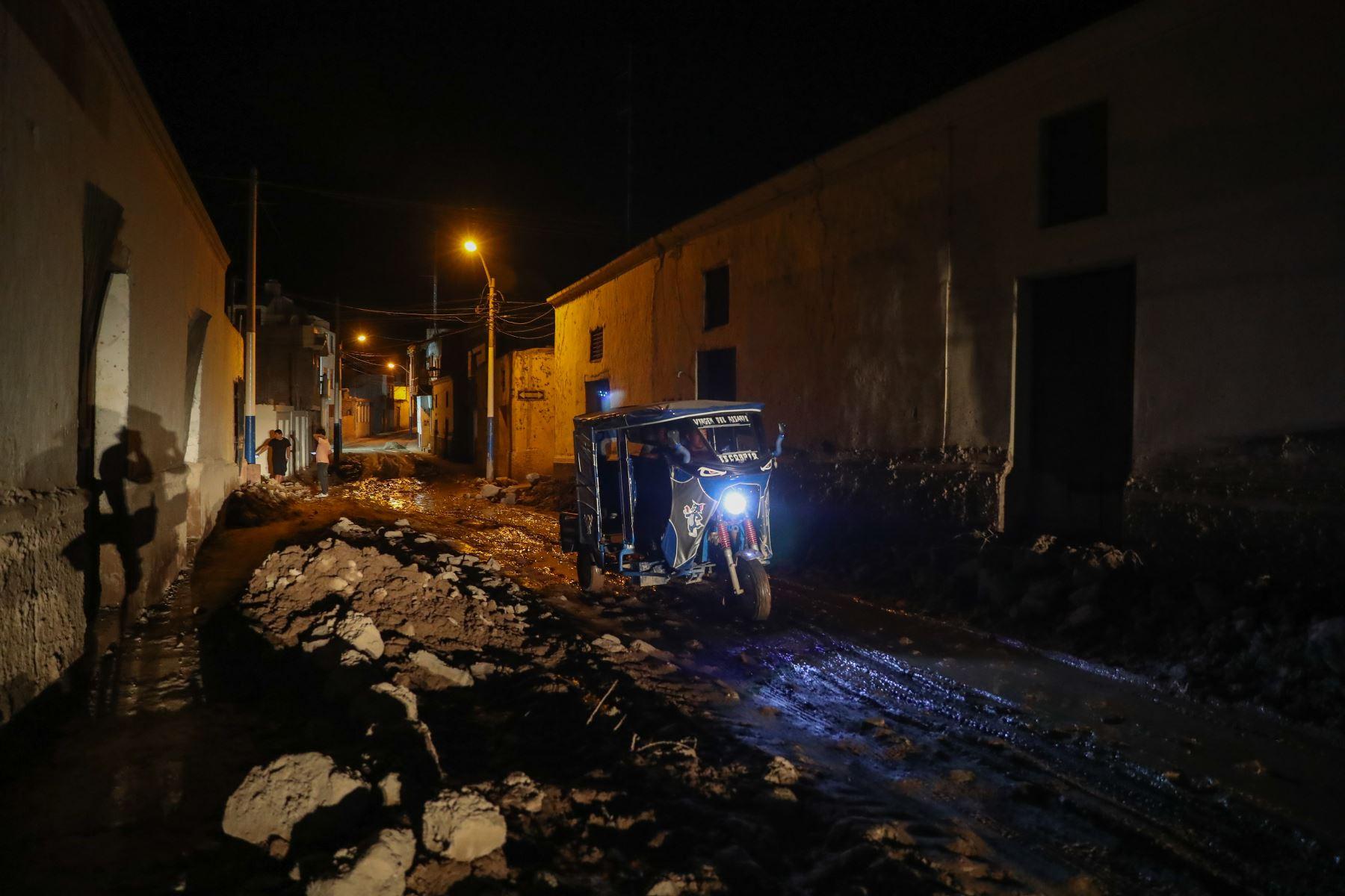 Zonas afectadas por el huaico en el distrito de Aplao, Arequipa.  Foto: ANDINA/Juan Carlos Guzmán Negrini