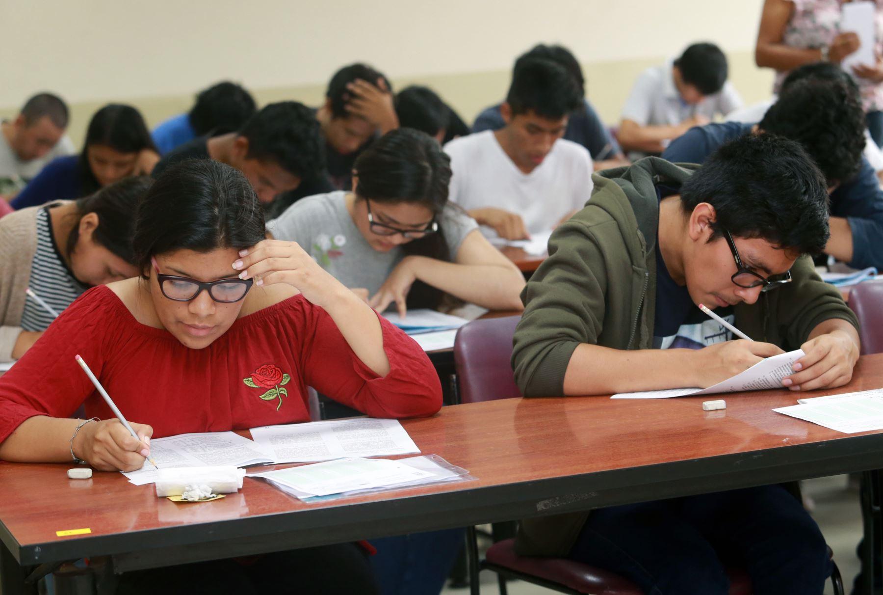 Examen de admisión UNI 2019-1. Foto: ANDINA/Norman Córdova