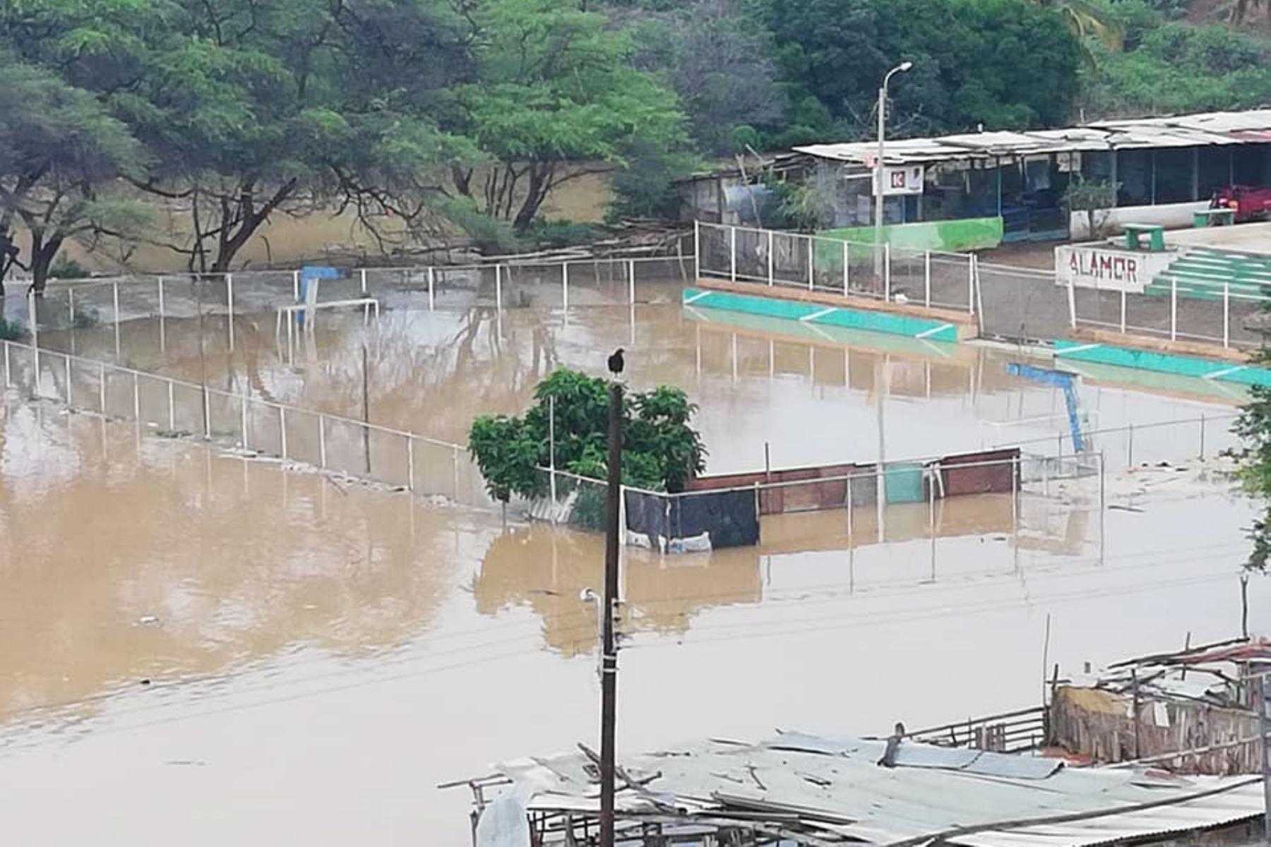 Desborde de río El Alamor deja 30 familias damnificadas en Sullana, Piura, ANDINA