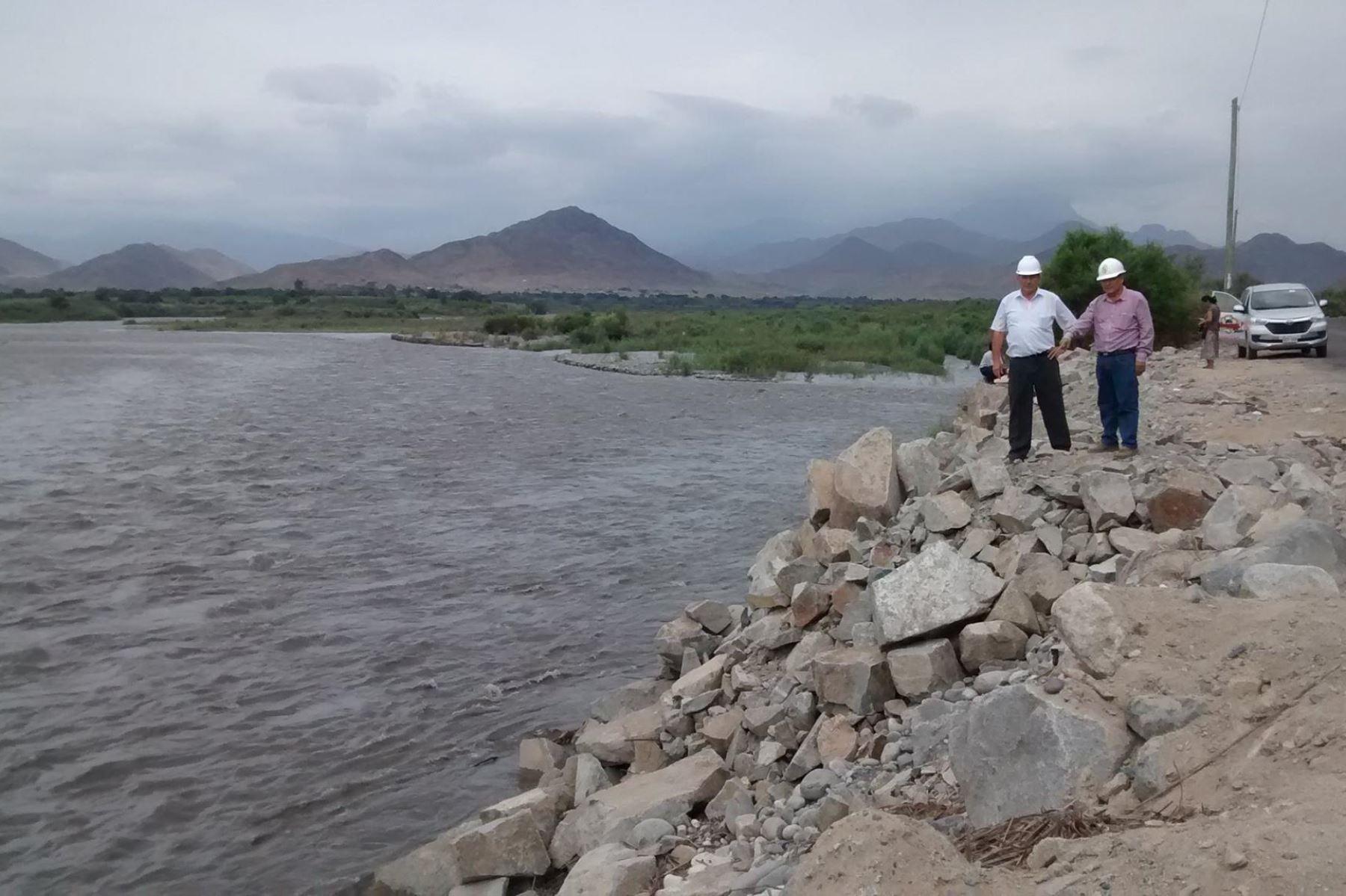 El río Santa alcanzó 315.66 metros cúbicos por segundo, un valor considerado normal, precisa COER Áncash. Foto: ANDINA/Gonzalo Horna