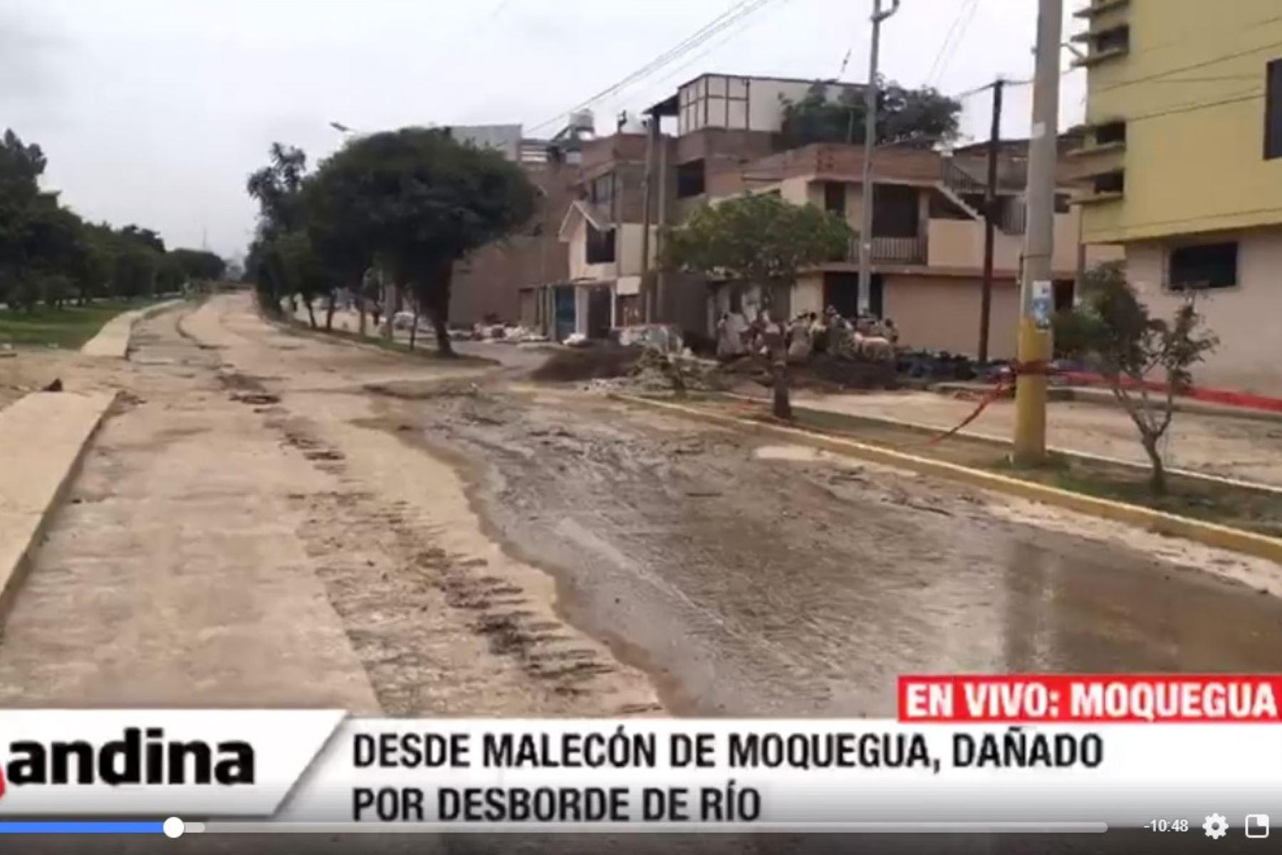Furia del río Moquegua arrasó con viviendas, calles y parques de la ciudad.
