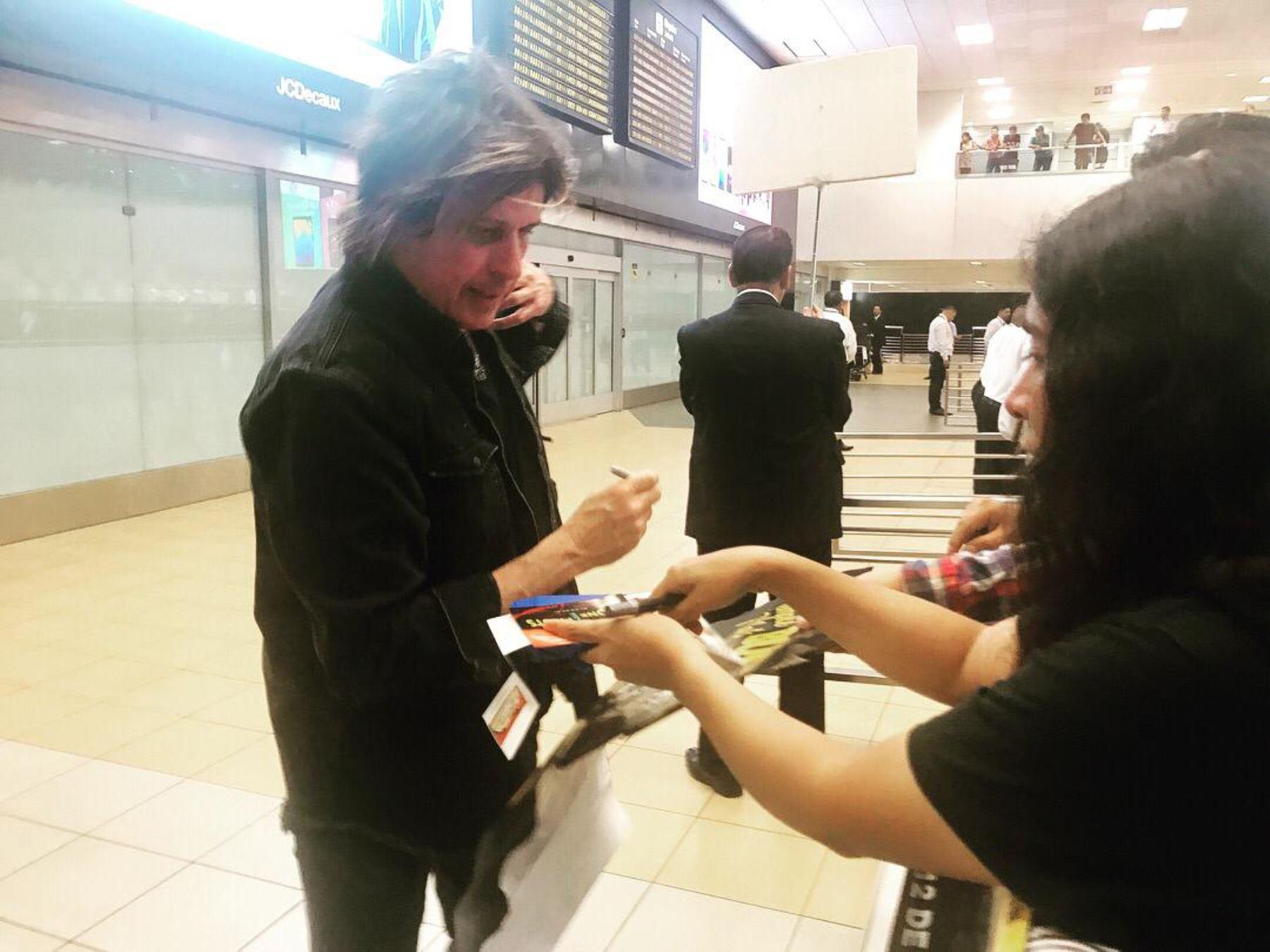 Los integrantes de Stone Temple Pilots llegaron al Perú.