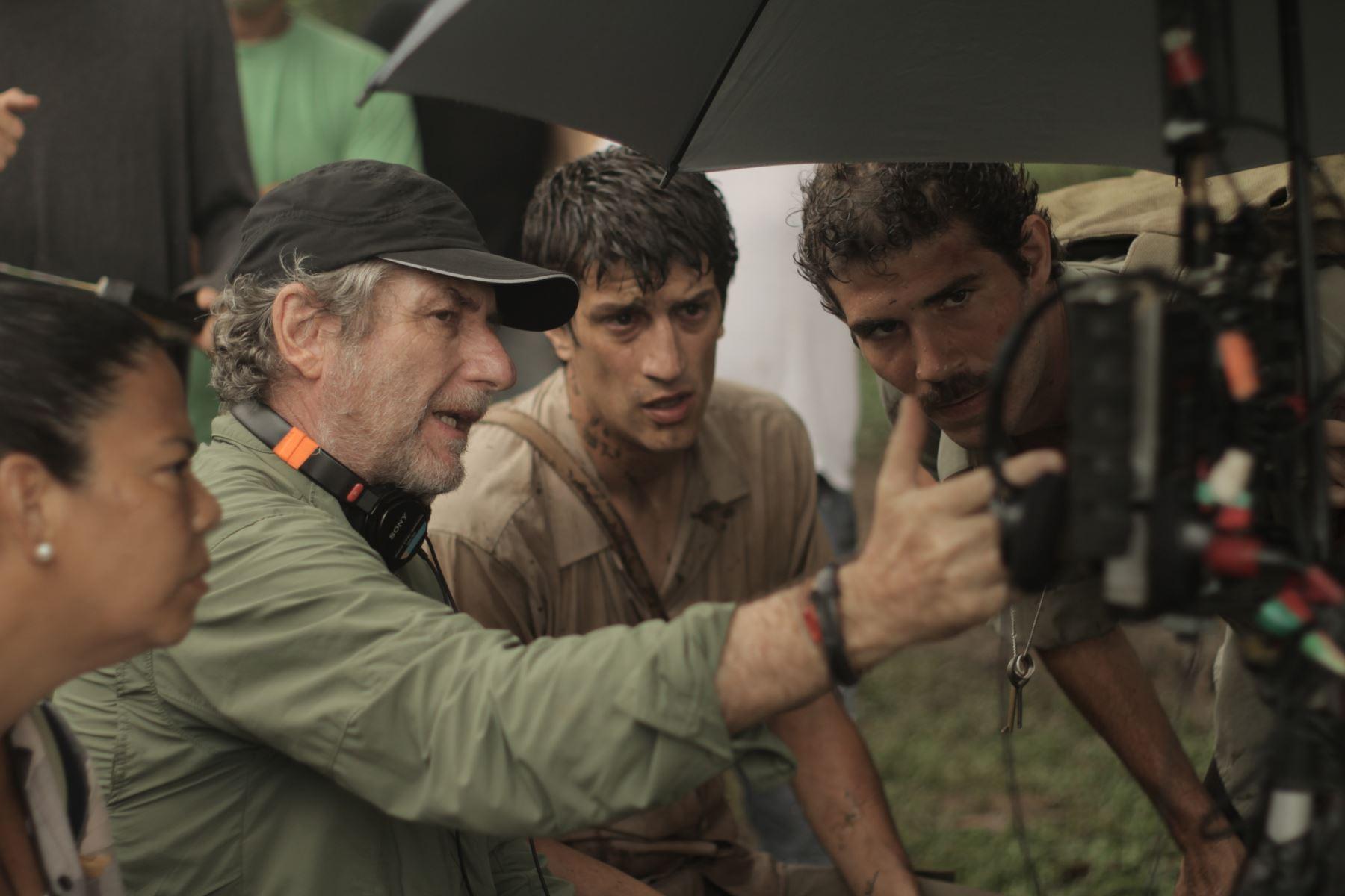Escenas del rodaje de la cinta peruana.