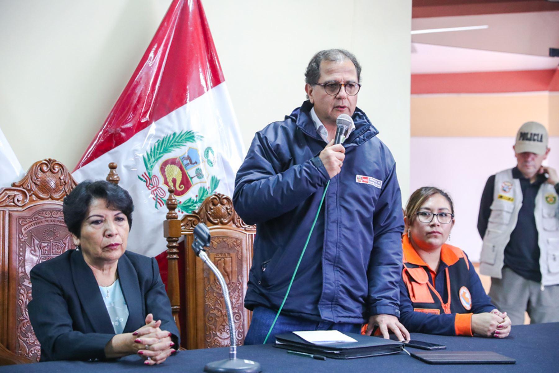 Ministro Ísmodes instala COER de Cajamarca. Foto: Cortesía.