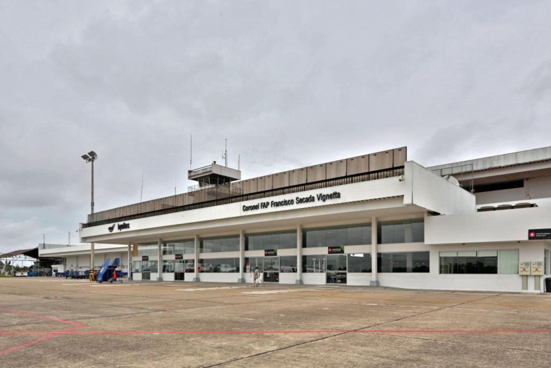 Aeropuerto Internacional Coronel FAP Francisco Secada Vignetta de Iquitos. Foto: Cortesía.
