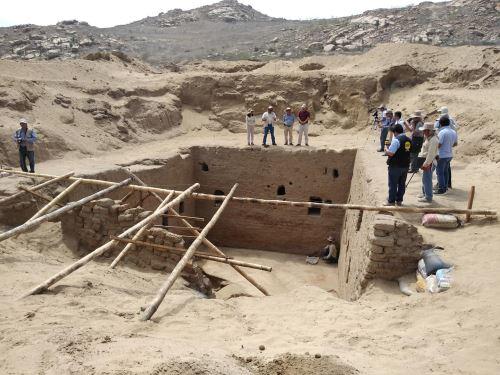 Hallan monumental tumba de época inca en sitio arqueológico de Lambayeque. ANDINA/Difusión