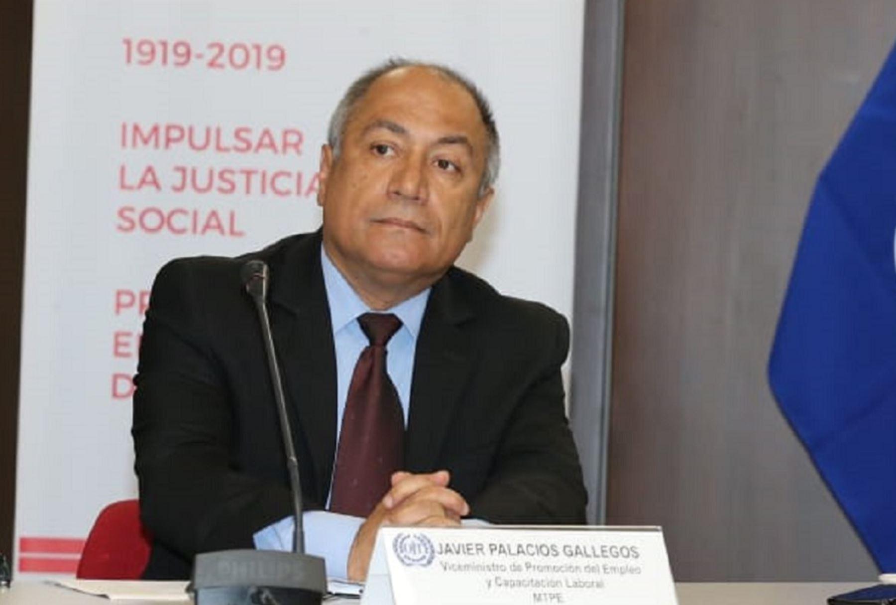 Viceministro de Promoción del Empleo y Capacitación Laboral, Javier Palacios Gallegos. Foto: Cortesía.