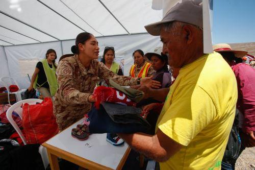 Tacna: Ejército realiza campaña de apoyo solidario en Mirave