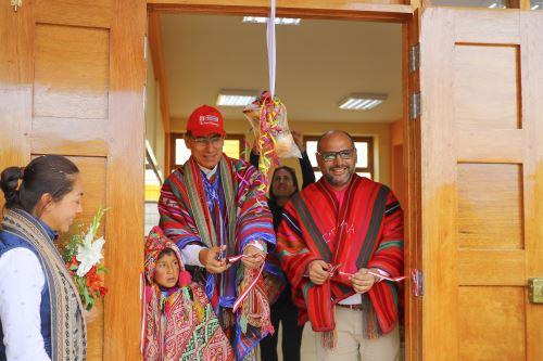 Presidente Vizcarra inaugurò IE 50162 en la localidad de Chumpe, regiòn del Cusco. Foto: ANDINA/Prensa Presidencia.