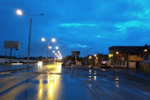 Chiclayo soportó una lluvia intensa durante esta madrugada.