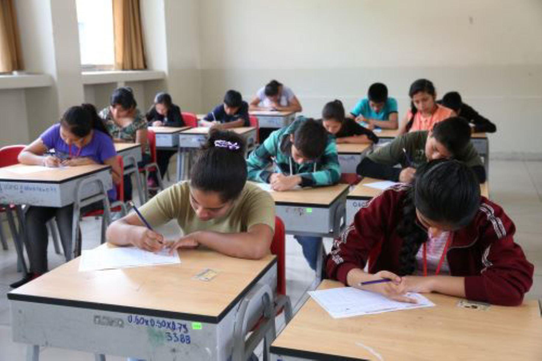 Admisión Coar 2019: más de 30,000 escolares rinden hoy examen de preselección. Foto: ANDINA/Difusión.