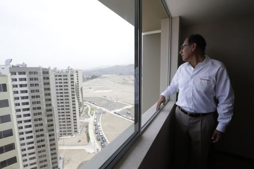 Presidente Vizcarra inspecciona los avances de la Villa Panamericana y Parapanamericana