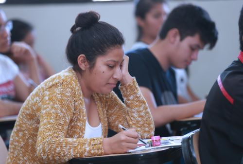 San Marcos: estudiantes rinden simulacro de examen de admisión, para ingreso a la Universidad Decana de América .