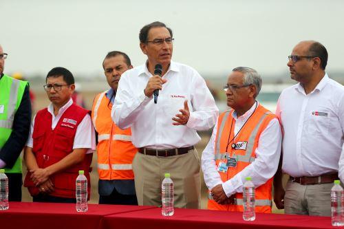 Presidente Vizcarra inaugura obras en el aeropuerto de Chiclayo