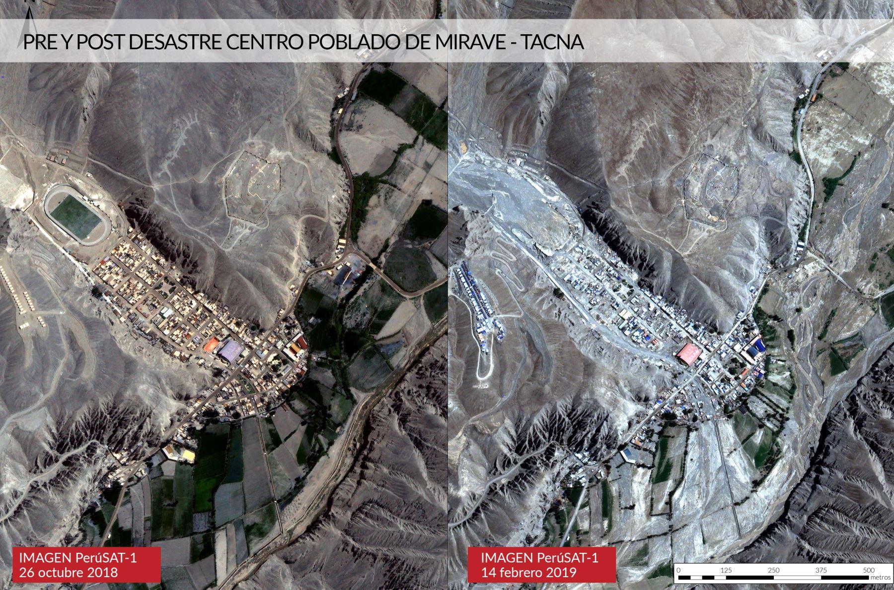 Vista del satélite Perú Sat de la localidad de Mirave. Foto: ANDINA/Difusión