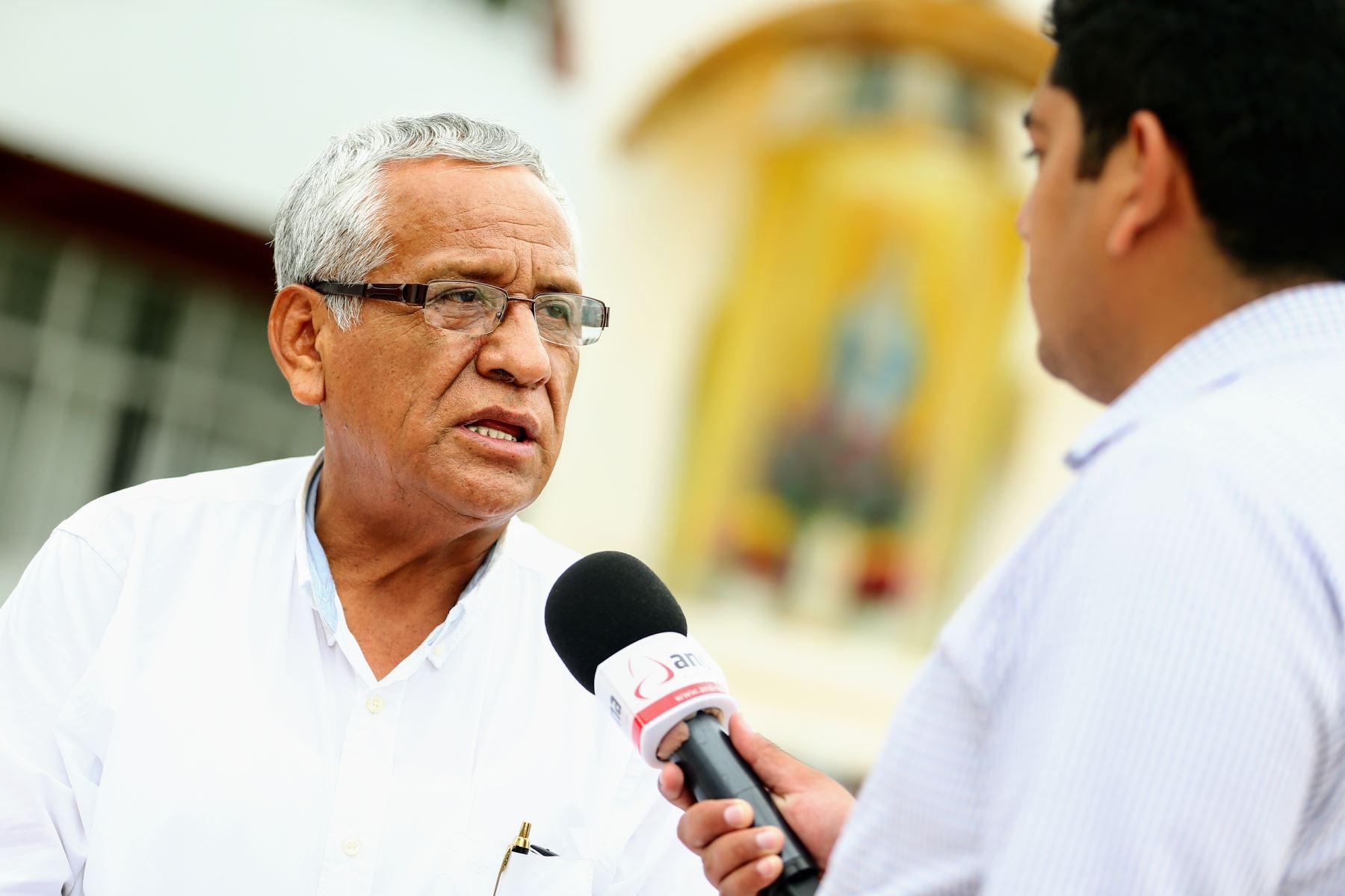 Gobernador regional de Lambayeque respalda cuestión de confianza. ANDINA/Luis Iparraguirre