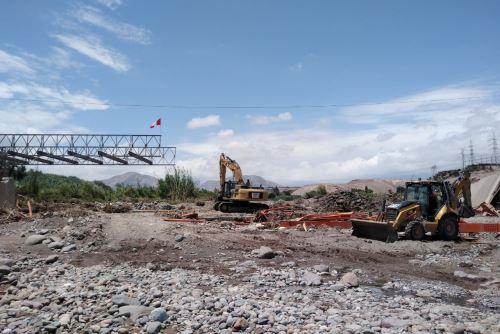 Comienza instalación de estructura modular que reemplazará a puente Montalvo en Moquegua. ANDINA/Difusión