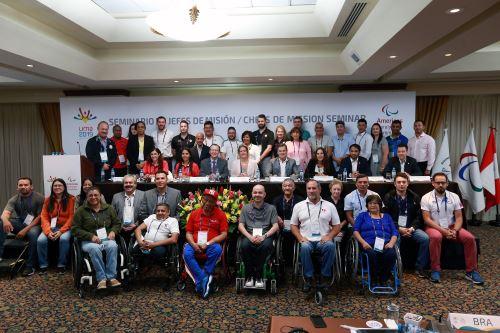 Juegos Parapanamericanos Lima 2019: reunión de jefes de misión de los países participantes