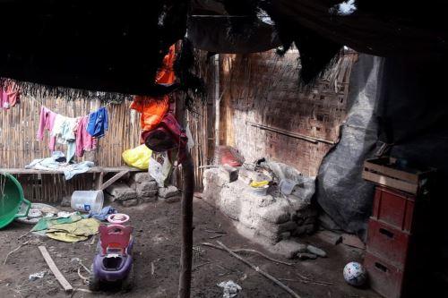Cuatro viviendas rústicas colapsan en la provincia de Chiclayo por lluvias intensas. ANDINA